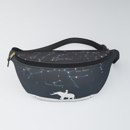 Falling star constellation Fanny Pack