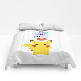pikapika chu - hug Comforters