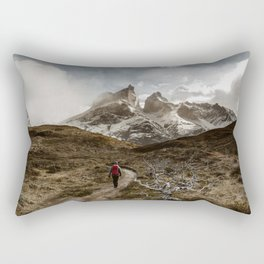 Hiking Torres Del Paine Rectangular Pillow