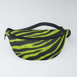 Ripped SpaceTime Stripes - Lime Yellow Fanny Pack