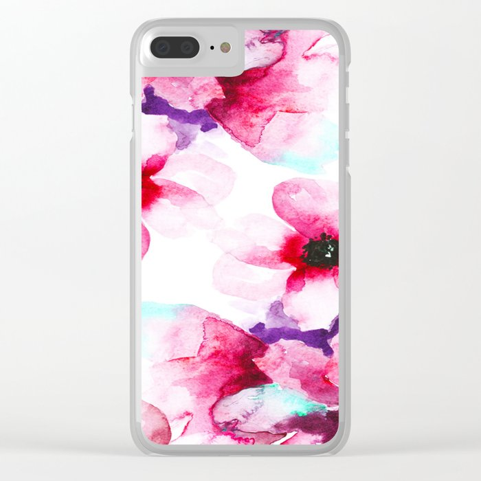 Flowers 04 Clear iPhone Case