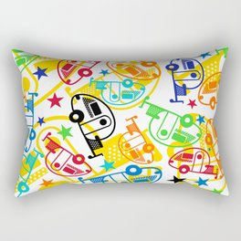 Candy Colored T@Bs Rectangular Pillow
