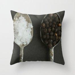 Salt and Pepper Throw Pillow