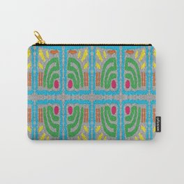 Square Stamp Multi Blue Carry-All Pouch