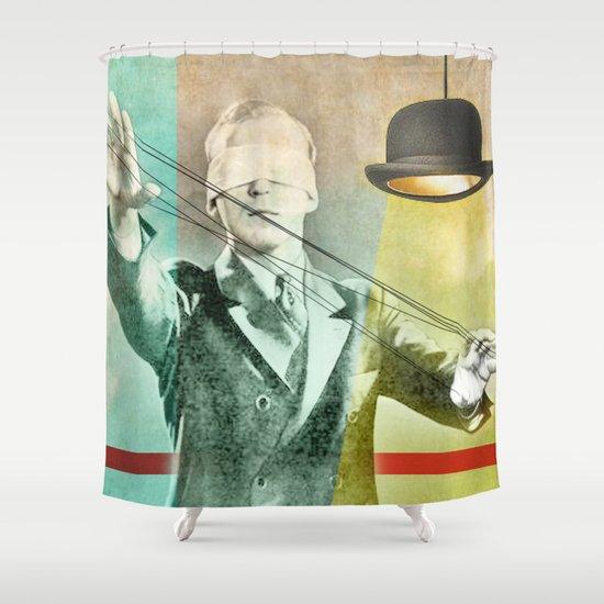Blindfold bowler Shower Curtain