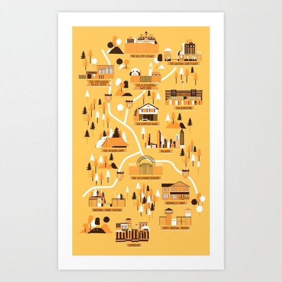Survivors Map Art Print