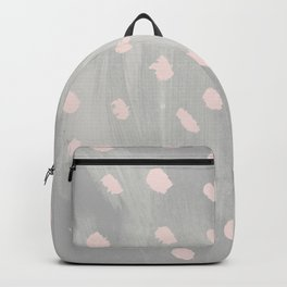 Modern hand painted pink gray watercolor polka dots Backpack