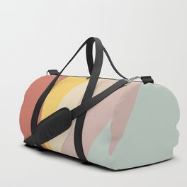 Retro Abstract Geometric Duffle Bag
