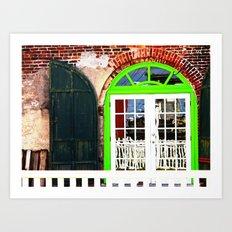 Green Window in Apalach Art Print