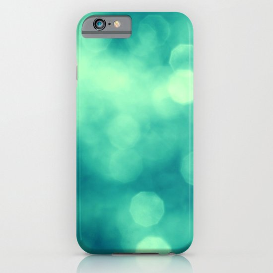 BLUE GLITTER iPhone & iPod Case