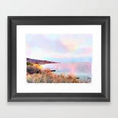 Palos Verdes Pastel Framed Art Print