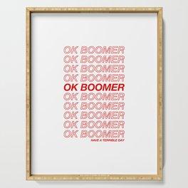 OK Boomer Serving Tray