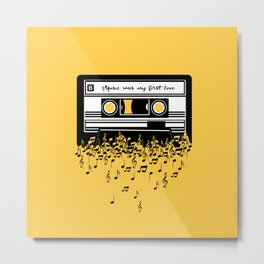 Retro Tape Metal Print