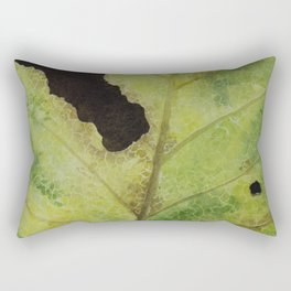 White Mulberry Leaf Rectangular Pillow