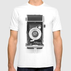 Vintage Camera No. 1 White MEDIUM Mens Fitted Tee