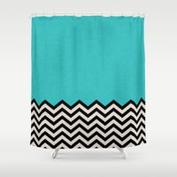 country Shower Curtains featuring Follow the Sky by Bianca Green