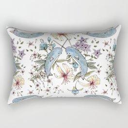 Narwhal pattern Rectangular Pillow