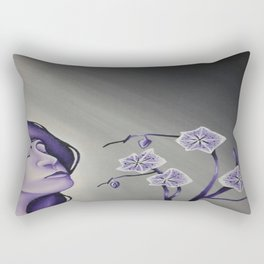 Wallflower Girl Rectangular Pillow