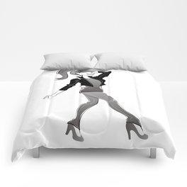 fashion girl illustration Comforters