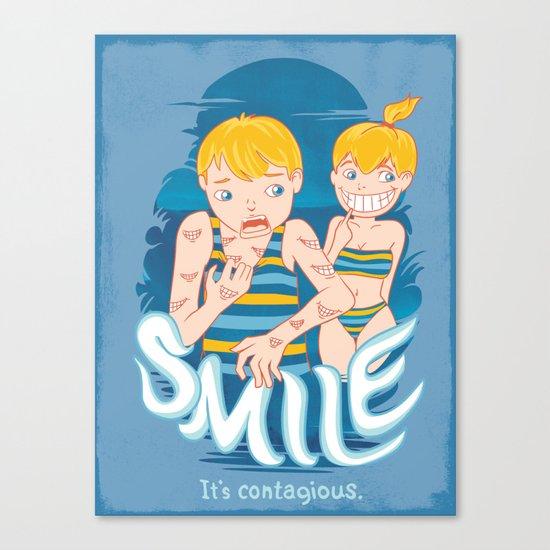 Smile: It's contagious. Canvas Print