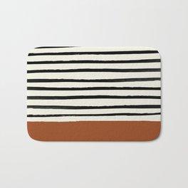 Burnt Orange x Stripes Badematte