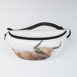 Highland Cow Watercolour Fanny Pack