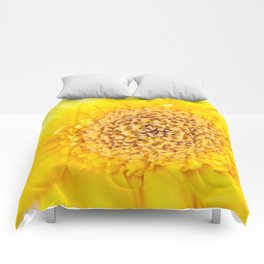 Sunny Summer Love - Yellow Gerbera #1 #decor #art #society6 Comforters