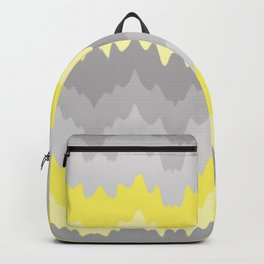 Yellow Grey Gray Ombre Chevron Abstract Zigzag Backpack