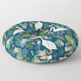 Floral Pelican Floor Pillow