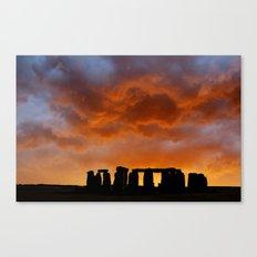 Stonehenge Sunrise, Wiltshire Canvas Print