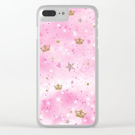 Pink Princess Clear iPhone Case