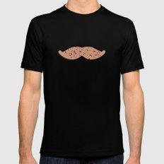 mustache Black MEDIUM Mens Fitted Tee
