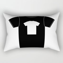 White T-Shirt With a Picture of My Black T-Shirt With a Picture of My White T-Shirt Rectangular Pillow