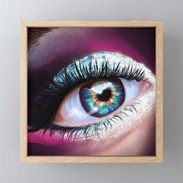 Eye love glitter Framed Mini Art Print