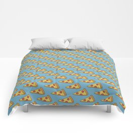 Doodle Pizza Lover Pattern Comforters