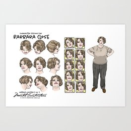 Barbara Close character design Art Print