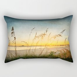Ocean Springs Beach and Sea Oats Rectangular Pillow