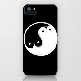 Boob Yin Yang BW iPhone Case