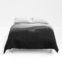 Dusky Mountains Comforters