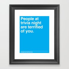 Trivia Night Framed Art Print