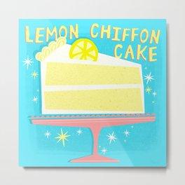 All American Classic Lemon Chiffon Cake Metal Print