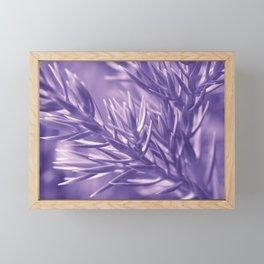 Ultra Violet Spruce Tree Pattern| Trendy color of year 2018 Framed Mini Art Print