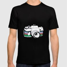 Camera Mens Fitted Tee Black X-LARGE