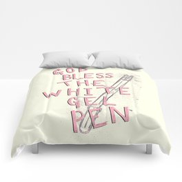 The White Gel Pen Comforters