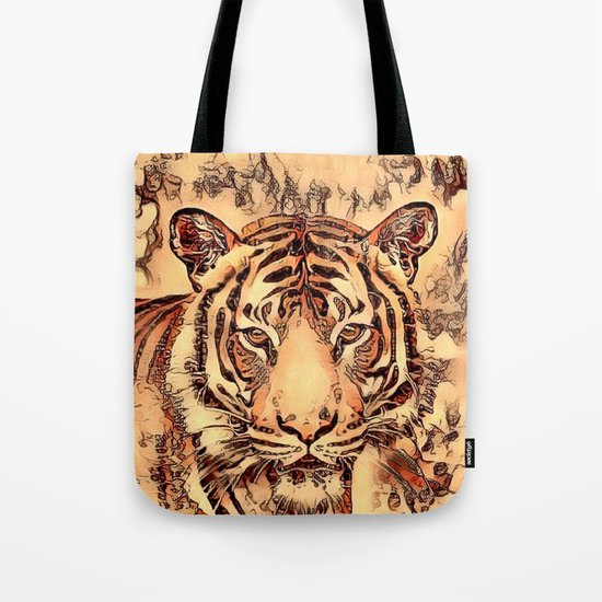 Animal ArtStudio- amazing Tiger Tote Bag