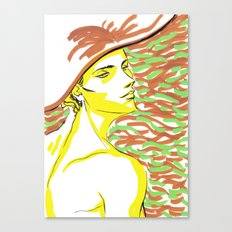 summer girl 1 Canvas Print