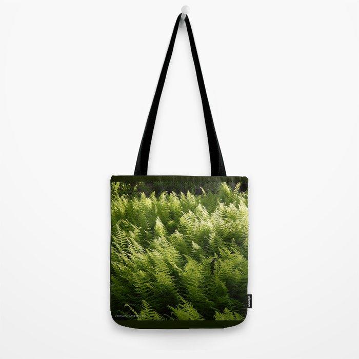 Light Magic in the Green Ferns Tote Bag