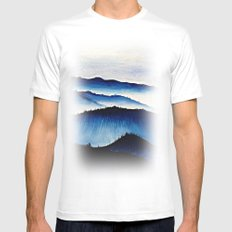 Mountain Landscape. MEDIUM White Mens Fitted Tee