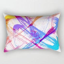 Vibrant and Expressive Multicolor Brushstrokes Rectangular Pillow