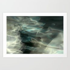 Abstracted waters Art Print